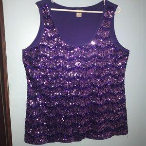 ✨HOT✨ purple sequin tank